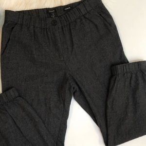 J crew wool cropped joggers size 4